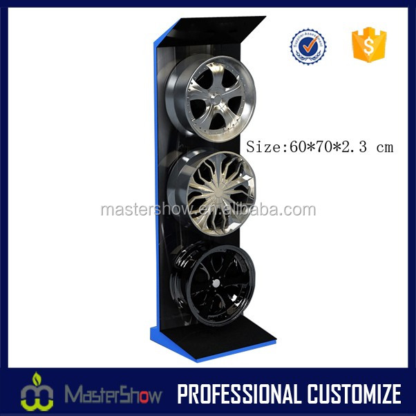 Famous car shop high quality wheel rim display rack