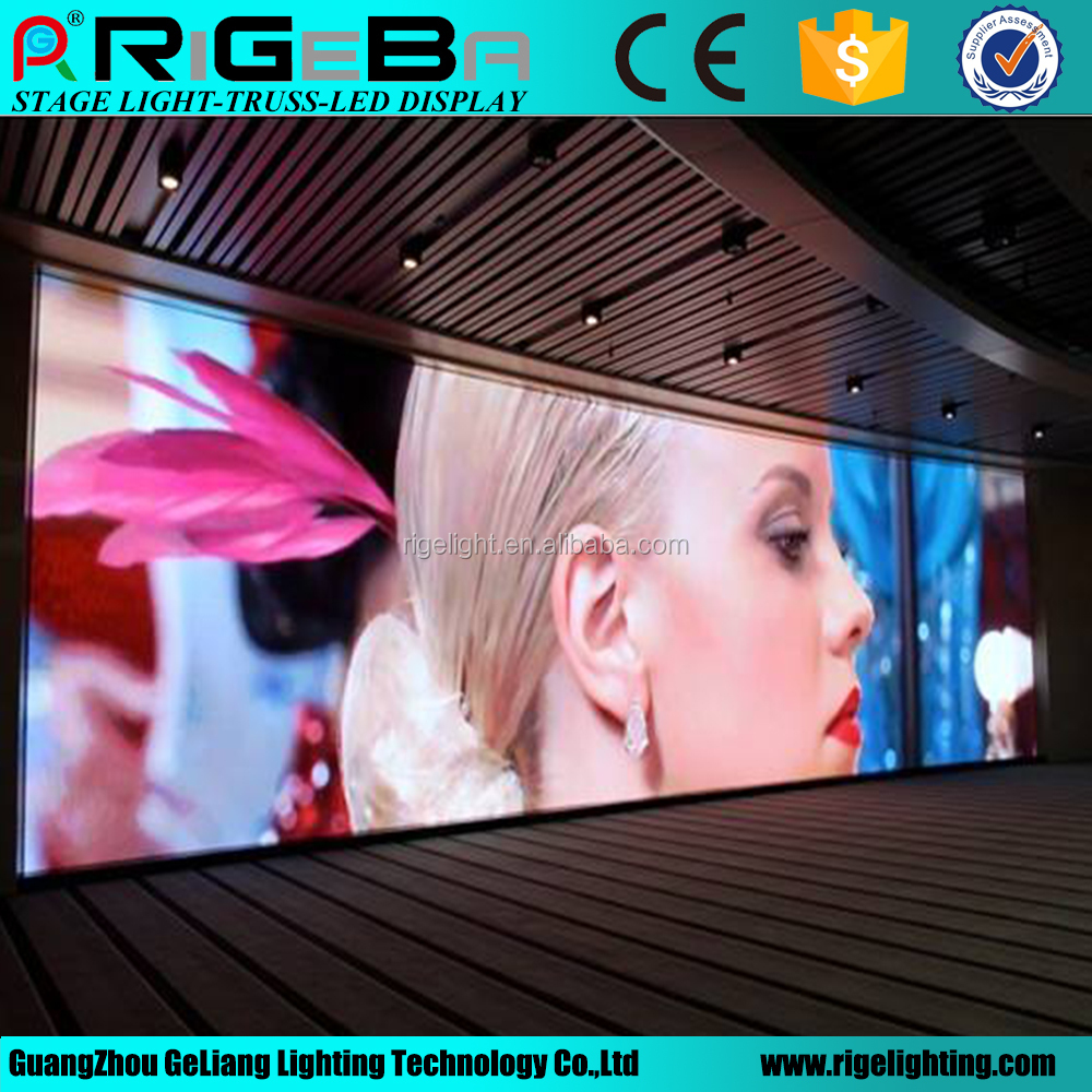 P7.62 high quality full color indoor led video xxx/small led screen display indoor