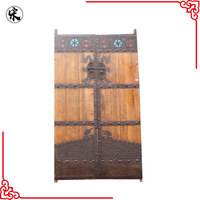 Chinese antique carved exterior solid recycle wood door