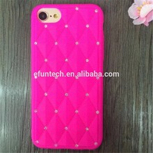 Low price luxury diamond gel silicone cell phone cover for iphone SE 5S case