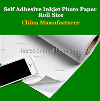 Glossy Sticker Self adhesive Photo Paper Roll