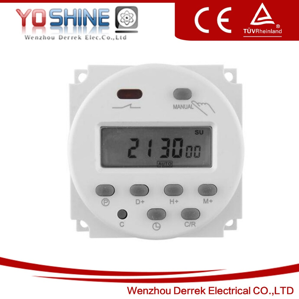 DIGITAL PROGRAMMABLE TIMER SWITCH - 12VDC - 16A LCD Digital Display Power Programmable Timer