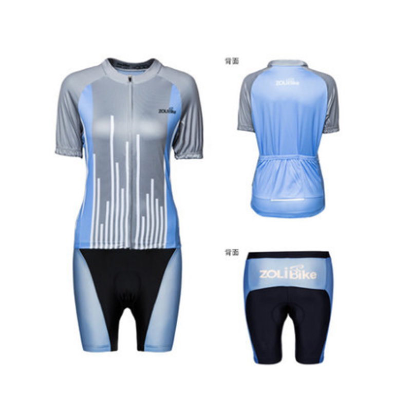 5e33d9c68 ZOLi ZL8011-1 Mountain Riding Sets Bicycle Gear Woman Summer Sports Short  Sleeve Custom Cycling Jersey Clothing