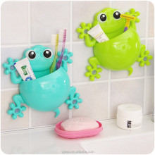 Hot sell High Quality Children Cartoon gecko toothbrush holder with Strong Suction Cup