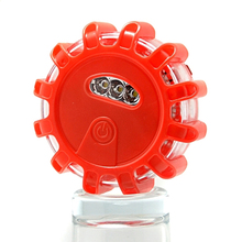 9 Lighting Mode Magnetic LED Flare Road Light Disc Roadside Safety Flashing LED Traffic Road LED Emergency Warning Light