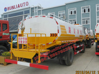 Cheaper Price Dongfeng 15Tons Potable Water Truck Water Spray Truck Water Tanker Trucks 15m3 For Sales