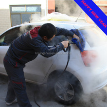 CE 30 bar 2 pistal mobile diesel vapor battery powered high pressure steam car washer price, jet steam car washer for sale