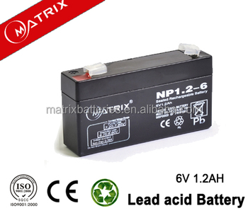 6V 1.2ah battery AGM power backup 6V 1.2AH SMF battery