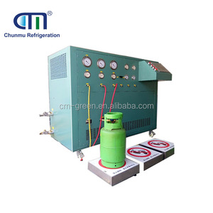 Three Stages Oil Less R134a Refrigerant Split Charging Filling Machine CM20A