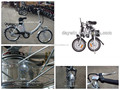 36V 10AH li-ion folding bicycle with pedal or throttle bar