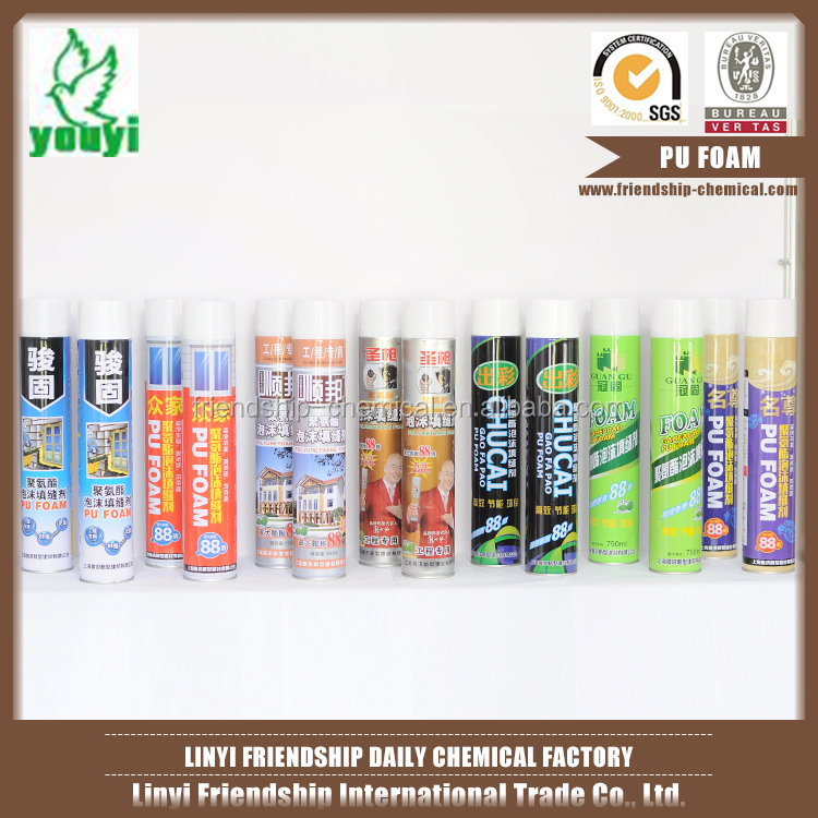 Non-toxic safe waterproof aerosol canned polyurethane pu foam spray sealant