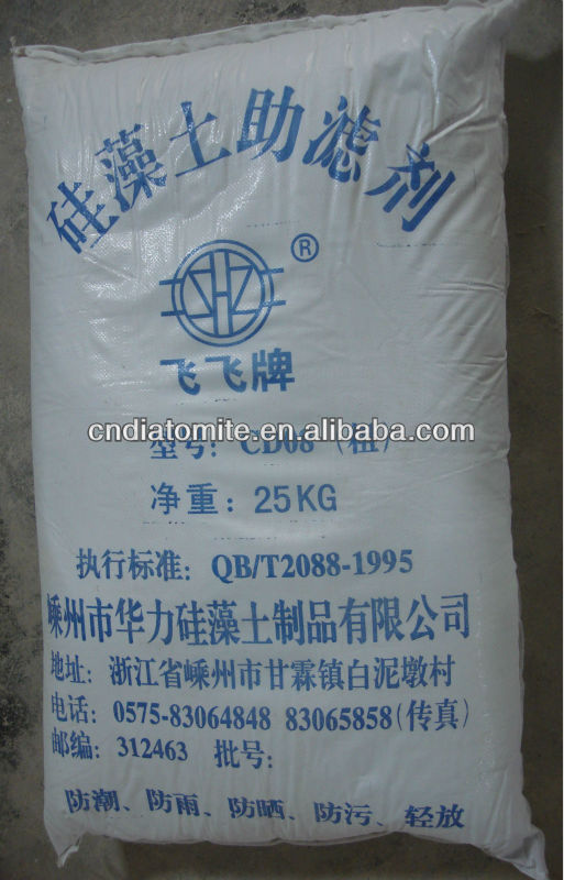 diatomite / diatomaceous earth filter aid beverage filtration DE filter media