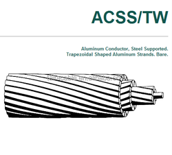 Aluminum Conductor Steel Supported ACSS/TW Overhead Bare ACSS conductor cable Curlew Bluejay Finch