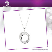 Jewelry Design New Fashion CZ Pendant Necklace for Women