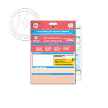 customized watermark paper security certificate for British agencies