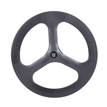 roue de velo carbone tri-spokes wheel 23mm width 50depth Clincher