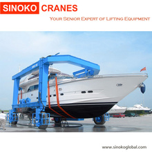 Rubber Tyre Travel Lift Mobile Boat Hoist