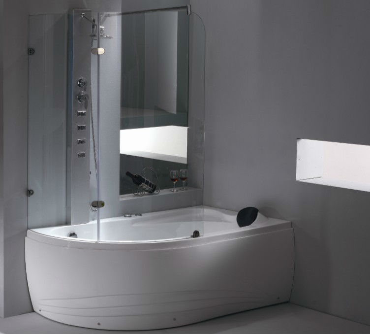 Corner Jetted Tub Shower Combo (AM211RD)
