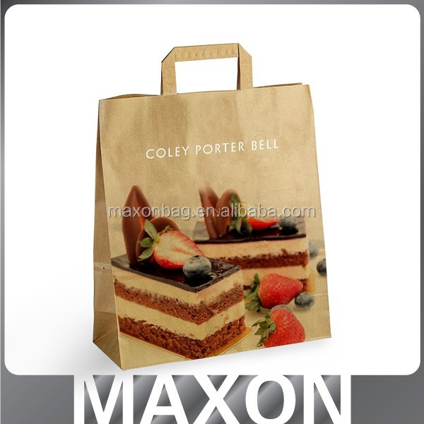 2017 Top quality and Handled Style grocery kraft paper bags
