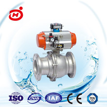 Hot sell 3 pieces stainless steel pneumatic ball valve