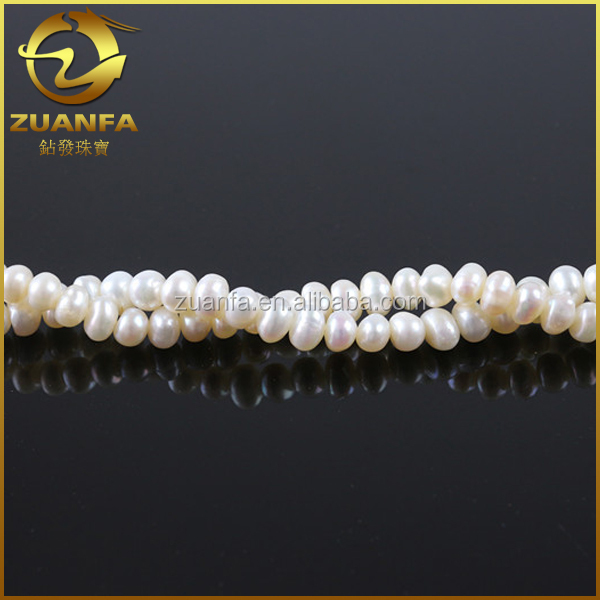 irregular shape 8mm loose wholesale freshwater pearl string