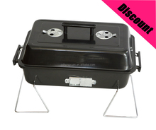 2017 square Camping Charcoal black color bbq grill with lid