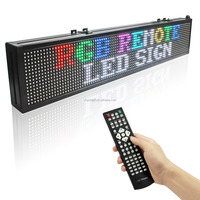 Full Color Programmable Led Display Board Running 2 line Messages Led Signs Remote Control