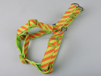 Alibaba China Manufacturer Adjustable High Quality Large Strong Green Nylon Padded Dog Harness