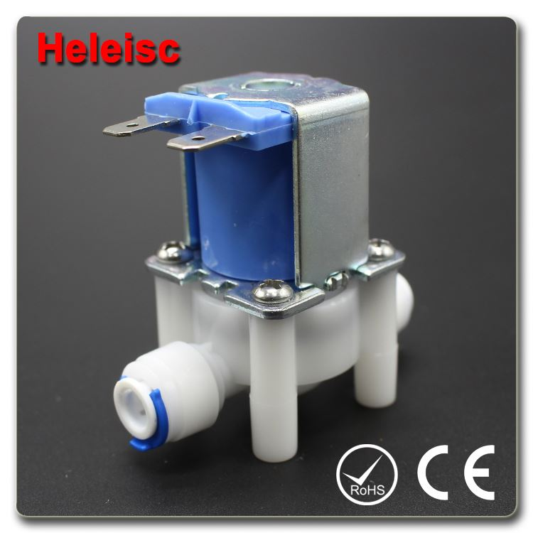 Water dispenser solenoid valve electric water valve plastic 1/2 inch external thread valve