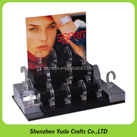 Painting Wooden Display Acrylic and Wood MDF Material C Clip Watch Display for Sale