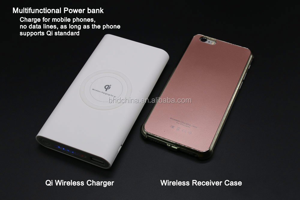 2017 Trending Products New Premium Wireless Charger Powerbank 10000 mah for Samsung for iphone 7 case for Redmi note 4