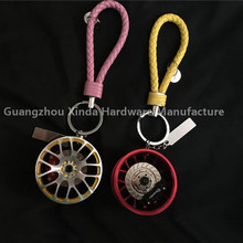 Fashion wheel rim keychain key ring ,Good quality customized made car parts key chain manufacturer