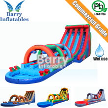 3 lane Giant inflatable slip n slide for adult and kids, Commercial inflatable water slide for sale, Factory wholesale price