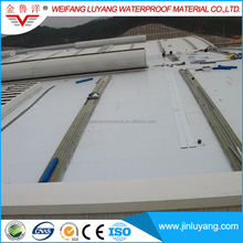 1.5mm PVC roofing membrane with polyester mesh reinforced