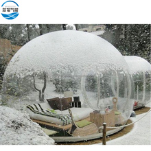 PVC clear inflatable air dome clear bubble tent camping transparent bubble lodge tent for rent