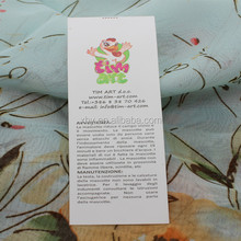 Made in China wholesale wash label for toys