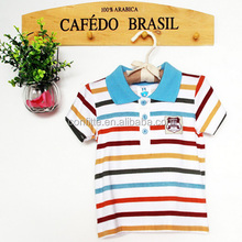 Polo collar kids arrow wholesale striped t-shirt