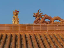 Chinese decorative roof ridge dragon finial