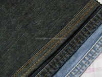 shaoxing textile 2016 high quality 10oz cotton/spendex slub denim jeans fabric material