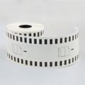 Compatible Continuous Thermal Paper DK-22205 Sticker Labels DK22205 for Brother 62MM*30.48m Black on white