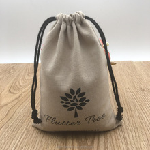 Light Brown Cotton Gift Packaging Bag