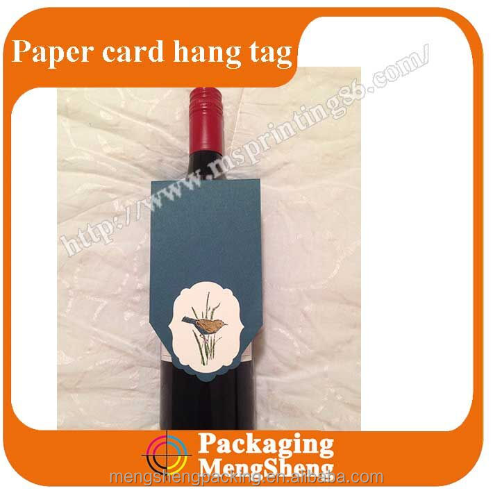 Unique tag wholesale for red wine bottle