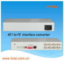 4E1 to FE network media converter interface devices