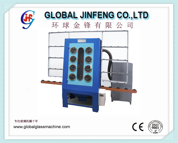 JF15LS Competitive price hot sale manual glass sandblast machine for flat glass with CE