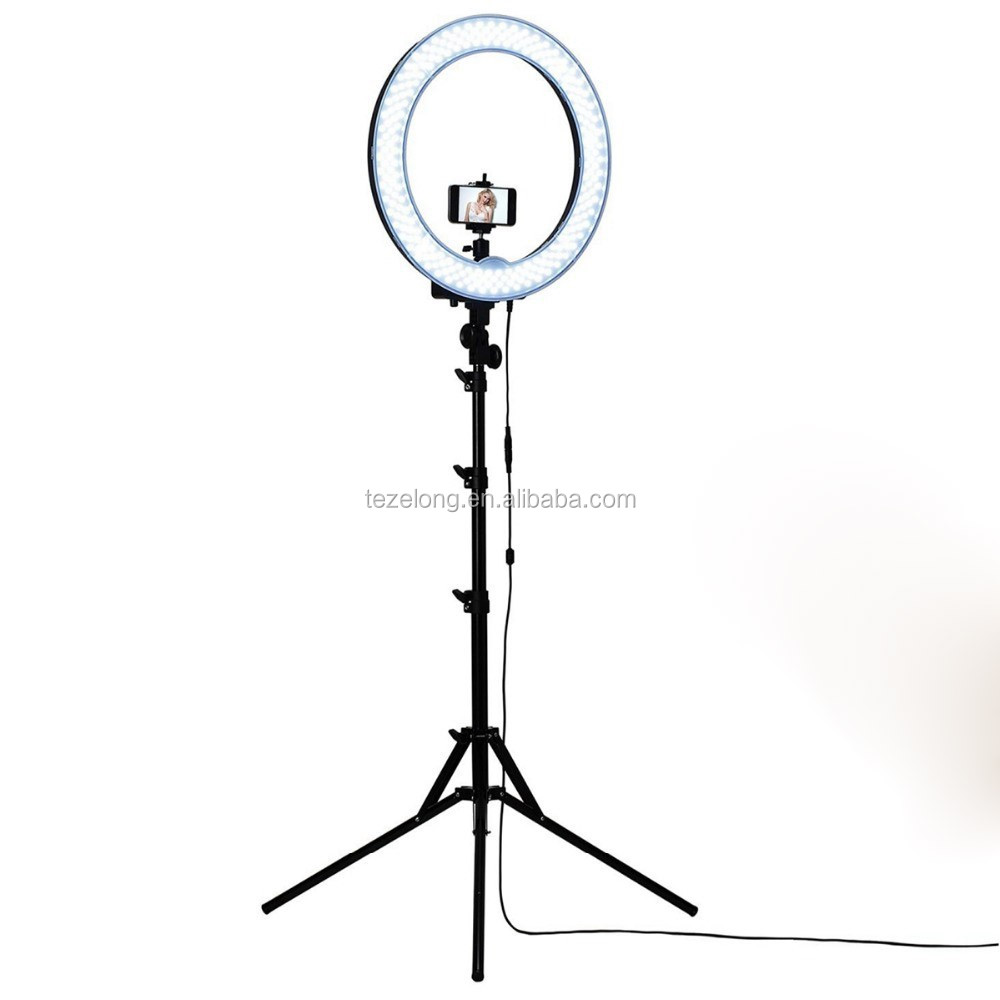Dimmable 18 Inch Diameter 75W(600W equivalent )Camera Photo Studio 5500K Ring light