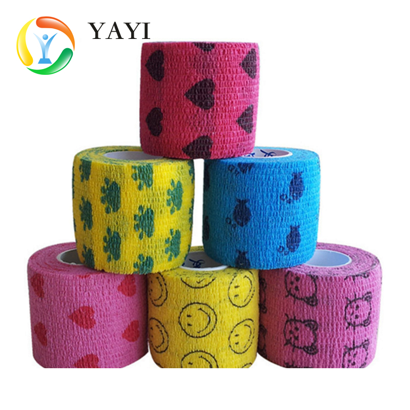 Nonwoven Self-adhesive Bandage, Self-Adherent Cohesive First Aid Wrap (With FDA), Sports Vet Tape,