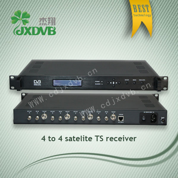Professional asi output dvb-s/dvb-t free to air digital receiver