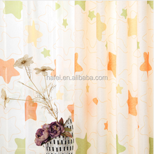 cheap wholesale curtain fabric star designs for children room sheer voile curtain