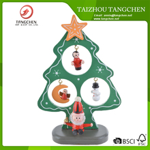 Traditional Bavarian Wooden Style Mini Christmas Tree Decoration Brand New,Christmas Ornaments,Christmas Crafts