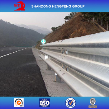 Steel Beam Guardrail Galvanized Guardrail